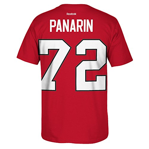 Chicago Blackhawks #72 Artemi Panarin HD Logo Name And Number T-Shirt