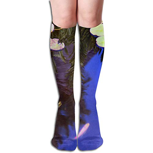 Girls Socks Mid-Calf Garden Lily Reflected In Water Lily Winter Designer For Halloween