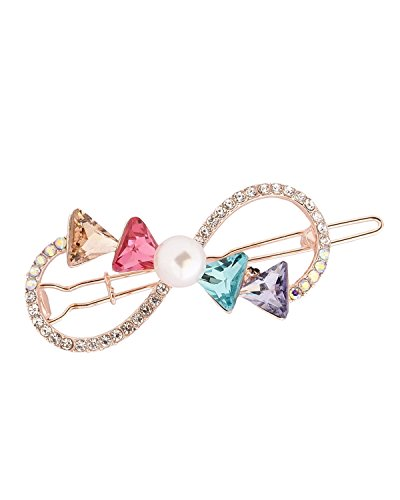- Young & Forever Girl's Valentine Paradiso Collection Pearl Bow Tie Multicolur Hair Clip Ha90255