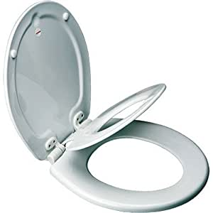 Mayfair NextStep Adult Toilet Seat with Built-in Child Potty Training Seat, Round, White, 83SLOWA 000/883SLOWA 000