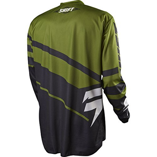 Shift Racing Assault Race Youth Boys Off-Road Motorcycle Jersey - Black/Green/Medium
