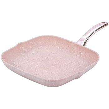 Bisetti BT-28211 Stonerose Aluminium Grill Pan Medium Pink