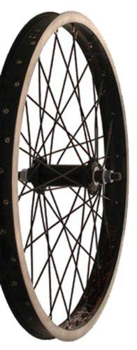 Tru Build Front Wheel - Sta-Tru Alloy Bmx 3/8-Inch Black Hub Front Wheel (20X1.95-Inch)