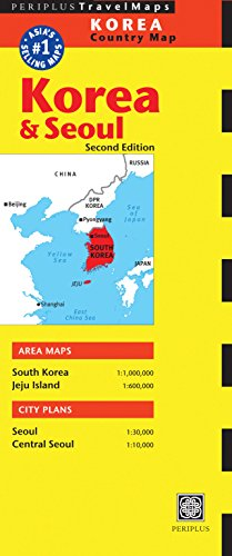 Korea & Seoul Travel Map Second Edition (Periplus Travel Maps)