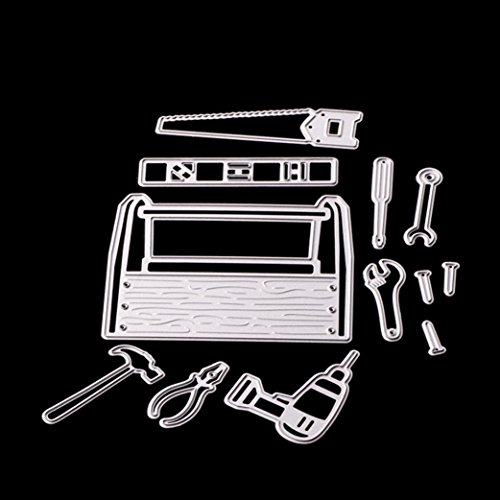 Cutting Dies,Pollyhb Metal Cutting Dies Stencils Scrapbooking Embossing DIY Crafts,Light Tool Cabinet Box,for Card Making Scrapbooking (C)