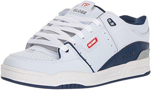 Globe Men's Fusion Skate Shoe, White/Blue, 11 M US -