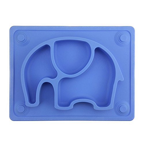 Baby Placemat, SILIVO 10'x7.7'x1' Silicone Child Feeding Plate with Suction Cup...
