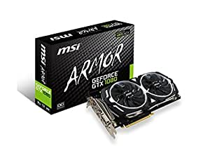 MSI Gaming GeForce GTX 1080 8GB GDDR5X SLI DirectX 12 VR Ready Graphics Card (GTX 1080 ARMOR 8G OC)