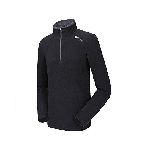 Camel Men's Fleece Sweatshirt Pullover Jacket Lightweight Sweater Shirt Outdoor Long Sleeve Jacket with Zip – DiZiSports Store