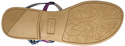 Nina Womens PIPPA Open Toe Casual Ankle Strap Sandals Purple ScUMk