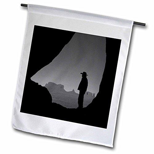 Teardrop Monument - 3dRose Danita Delimont - People - Navajo Indian Guide, Teardrop Arch, Monument Valley, Arizona, USA - 12 x 18 inch Garden Flag (fl_258740_1)