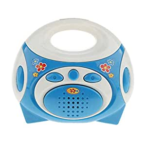 Flameer Mini Blue Radio Pretend Play Home Appliance Toy for Kids Boys & Girls