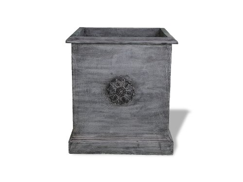 Amedeo Design ResinStone 2514-20C Square Icon Planter, 20 by 20 by 21-Inch, ()