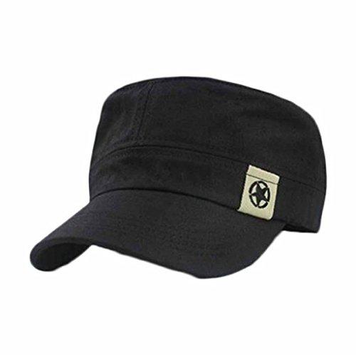 Unisex-Cap-Gillberry-Flat-Roof-Military-Hat-Cadet-Patrol-Bush-Hat-Baseball-Cap