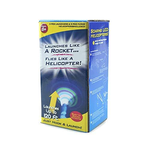 FAFA1808 Rocket Whistle Slingshot Finger Copter Led Toy Rocket (1 Box, Green)