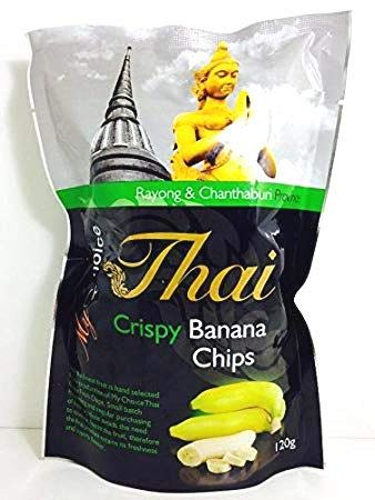 My Choice Thai Crispy Banana Chips Premium Grade 120 g.
