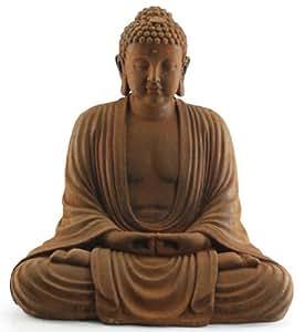 Figura Grande Buda Sentado Metal y Resina 73 cm