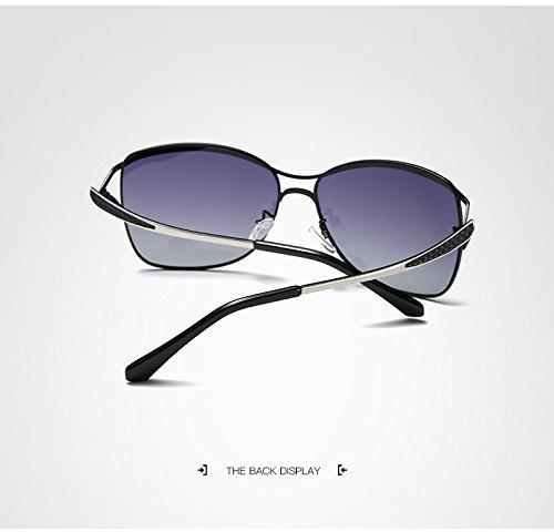 Black de Larged Lunettes Femmes Yumeik Dames Eyewear Conduite encadré élégante polarisé Outdor Femmes Soleil Purple Accessoires Mode Color pour vq4wU