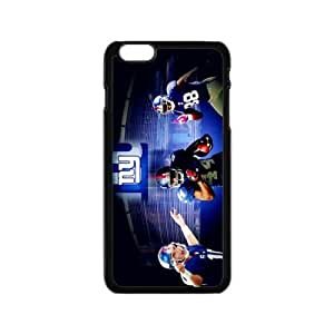NFL new york giants Print Black Case With Hard Shell Cover for Apple iPhone 6 4.7""