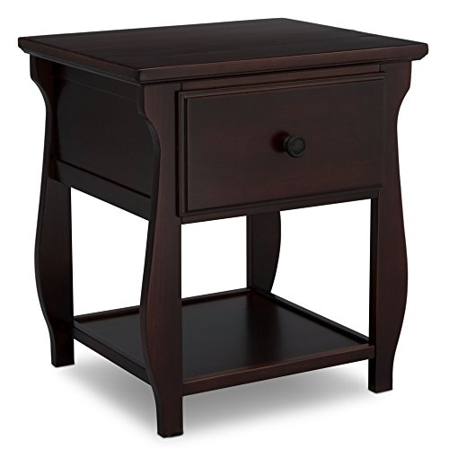 (Delta Children Lancaster Nightstand, Dark Brown Chocolate)