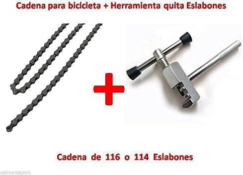 CADENA DE BICICLETA PARA 5, 6 o 7 PIÑONES 2/3 PLATOS, 21 MARCHAS + ...