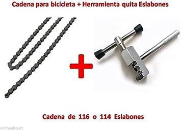CADENA DE BICICLETA PARA 5, 6 o 7 PIÑONES 2/3 PLATOS, 21 MARCHAS + HERRAMIENTA DESMONTADORA: Amazon.es: Deportes y aire libre
