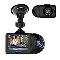 MEKNIC A3 Dash Camera For Cars Perfect Night Vision,Real 1920x1080P Car DVR Front and Rear, Wi-Fi Car Video Recorder (2.5K Single), 2.4 LCD CarDual Dash Cam with Parking Monitor,Support 256GB max, Father's Day Gift