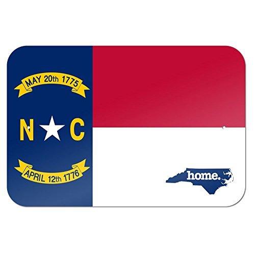 North Carolina NC Home State 12X16 inches Metal Sign - Flag (Lake Arrowhead Tin Sign)