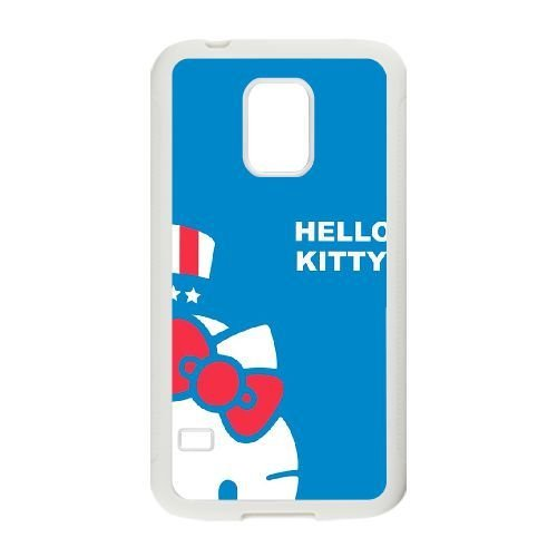 Samsung Galaxy S5 Mini Case,Cartoon Cute Hello Kitty Pattern Durable Hard Plastic Scratch-Proof Protective Case,White 02 (S5 Hello Kitty Bling Case)