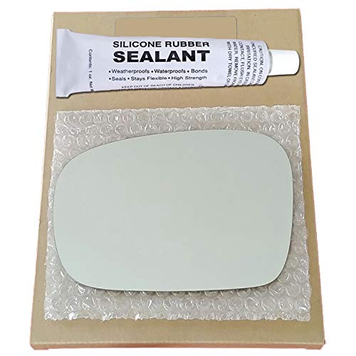 Mirror Glass Replacement + Silicone Adhesive for 1998-2002 Subaru Forester Driver Side - Not Base Model or L Model (Subaru Forester Driver Mirror)