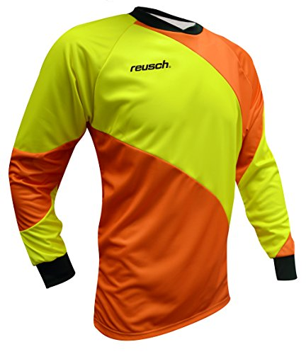 Reusch Soccer Prisma Long Sleeve Goalkeeper Jersey, Orange/Yellow, Adult Large