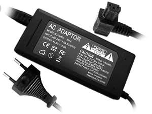 Troy-Adaptador red, Corriente-Adaptador, para AC-2, AC2, AC-2L, AC-11 apto para Konica Minolta Dimage RD3000 S304 S404 S414 Z1 Z2 Z3 Z5 Z6 Z10 5 7 7Hi 7i 2300 2330 Dynax 5D 7d
