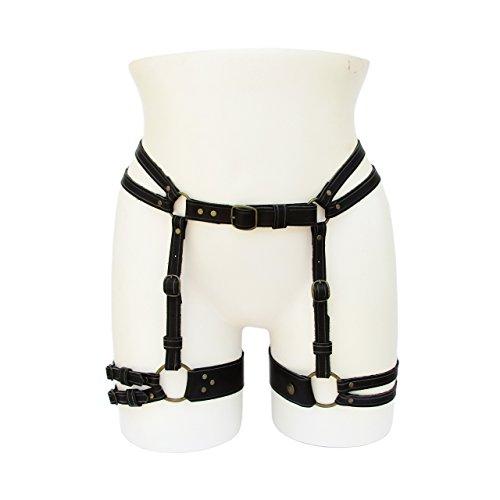 GENESIS Leather Garter Belt Body Harness by GetHellbent