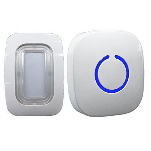 SadoTech Wireless Passive Infrared Single Motion Sensor Doorbell, Short Reset Delay (1-5 sec), LED lights, 25-feet Sensor Range with 50+ Chimes