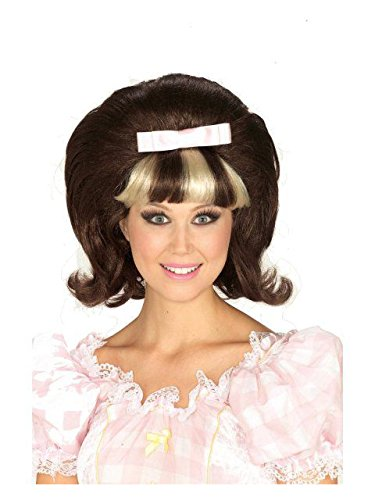 Forum Novelties Women's 1960's Brown and Blonde Costume Princess Wig, Brown/Blond, One Size