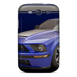 YUllw5279RWnkJ Case Cover Shelby Gt500 Blue Galaxy S3 Protective Case