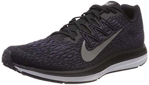 (Nike Men's Air Zoom Winflo 5 Running Shoe (9.5 M US, Black/Metallic Pewter-Gridiron-Light Carbon))