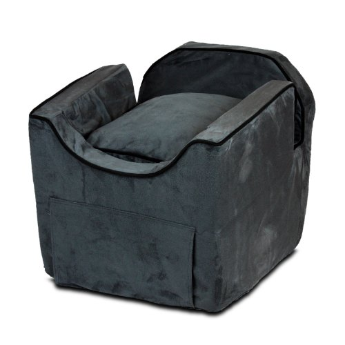 Snoozer Luxury Lookout Pet Car Seat, Small Luxury II, Anthracite with Black ()