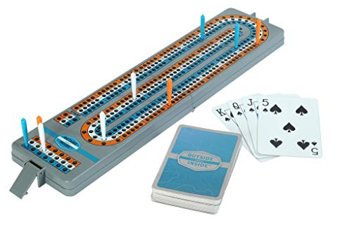 Outside Inside Backpack Cribbage Board Travel Game (Folding Cribbage Board)