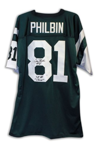 Gerry Philbin New York Jets Autographed Green Throwback Jersey Inscribed