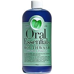Oral Essentials Mouthwash Fresh Breath 16 Oz. Non-Toxic Alcohol/Sugar Free Dentist Formulated
