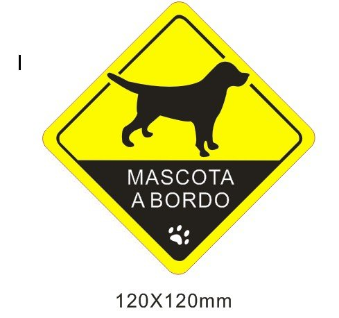 Pegatina vinilo impreso para coche, pared, puerta, nevera, carpeta, etc. mascota a bordo SUPER STICKER