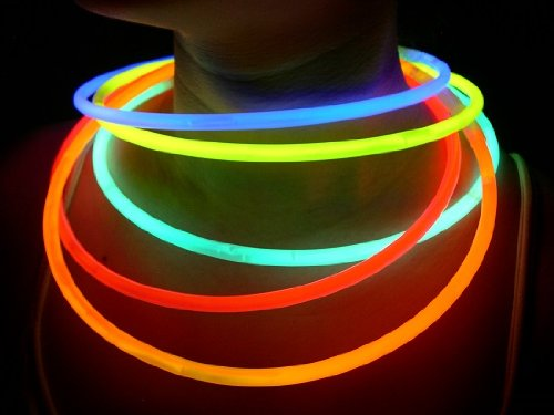 "Glow Sticks Bulk Wholesale Necklaces, 100 22"" Glow Stick Necklaces+100 FREE Glow Bracelets! Bright Colors Glow 8-12 Hr, Connector Pre-attached(handy), Glow-in-the-dark Party Supplies, GlowWithUs (Party City Glow In The Dark Balloons)"
