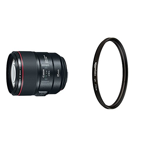 Canon EF 85mm f/1.4L with UV Protection Lens Filter
