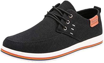 [ Eldori ] ウオーキングシューズ メンズ ジュニア スニーカー キャンバス 疲れにくい デッキシューズ 無地 アウトドア スリッポン カジュアル 大きいサイズ 幅広い レースアップシューズ 運動靴 通勤 通学 軽量 通気