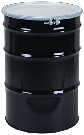 SKOLNIK Carbon Steel Open Head Drum, 55 gallons, Bolt Ring, 1.2mm Body Gauge (Pack of 1)