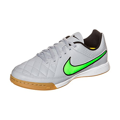 IC Junior Grigio Wolf Grey Tiempo Strike Green black Genio black Boots Leather Football Nike BIgqp