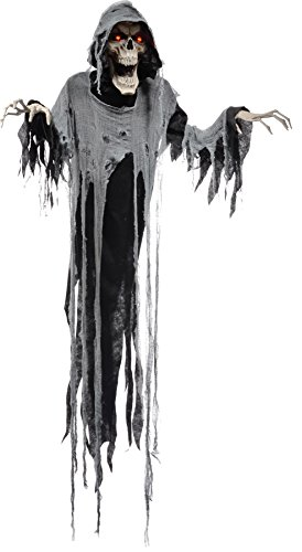 Hanging Reaper 72 Inches Animated Halloween Prop Haunted House Yard Scary Decor ()