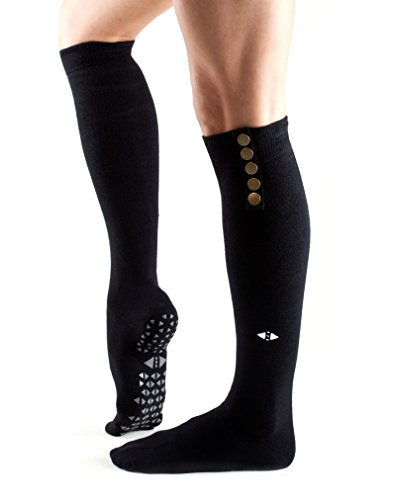 Tavi Noir Stella Knee High Grip Socks (Ebony) Medium
