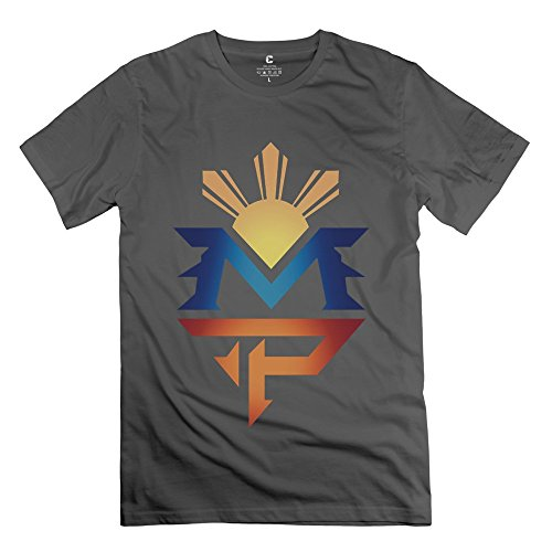 (Cute Manny Pacquiao Logo Men's Tshirt DeepHeather Size XS )